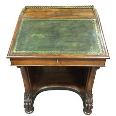 Desk Mid-19th Century Davenport  with Original Leather Top