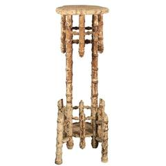 Faux Bamboo Victorian Stand