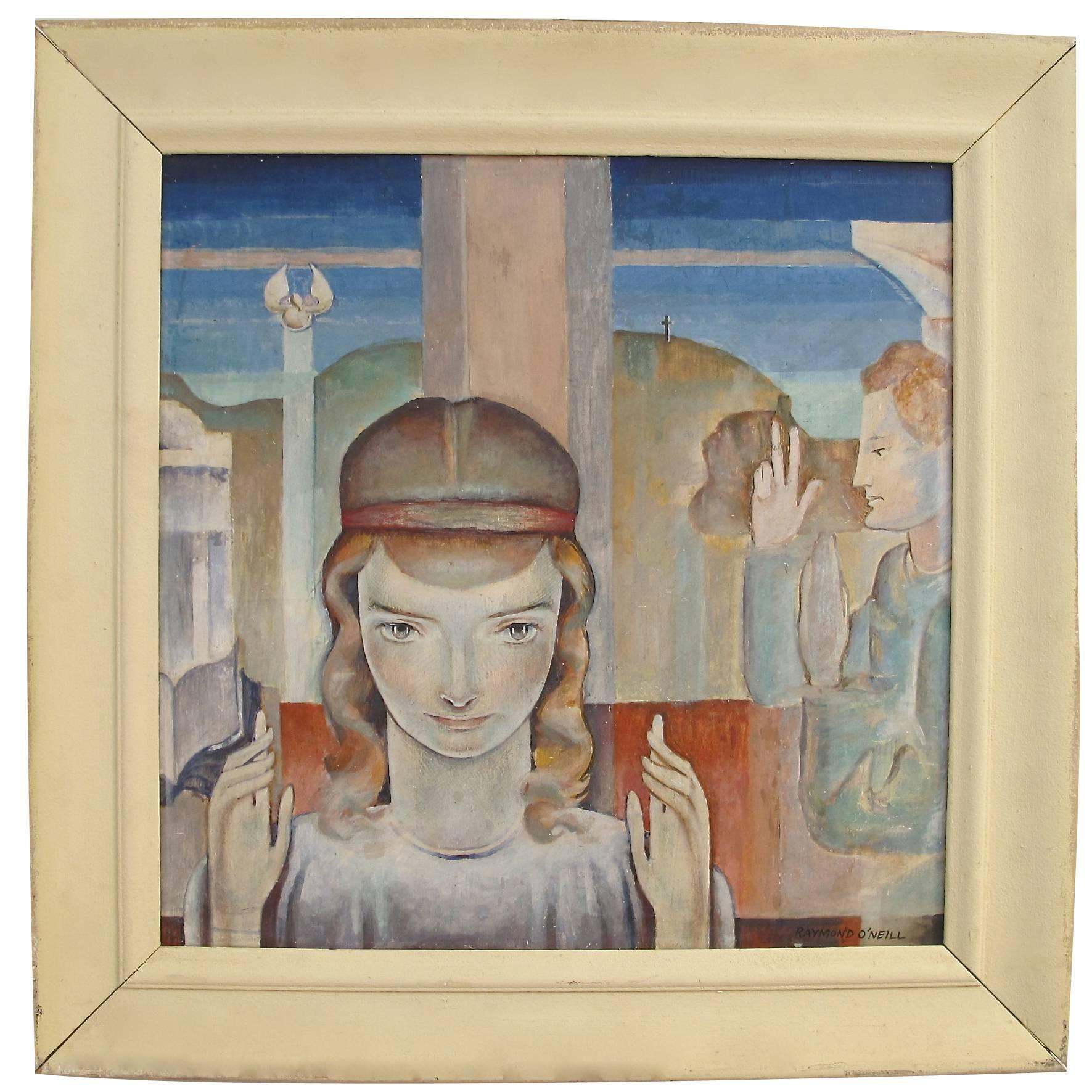 Art Deco WPA Style Figural Painting
