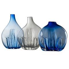 Set of Three Murano Glass Vases by Toni Zuccheri