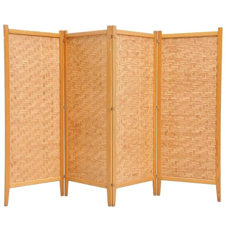 Albert Jansson Folding Screen Room Divider, Sweden, 1950