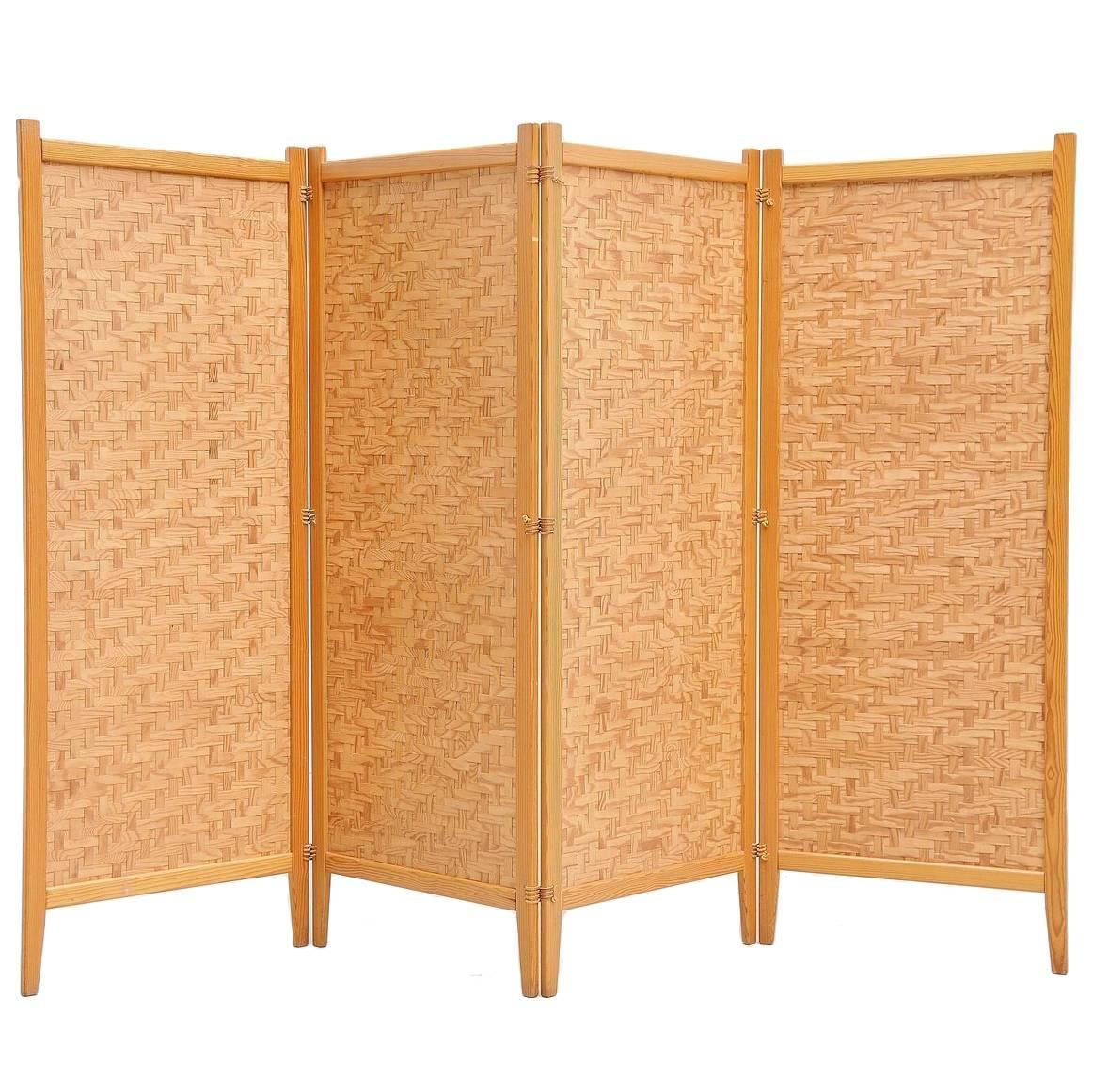 Albert Jansson Folding Screen Room Divider Sweden 1950 For Sale at