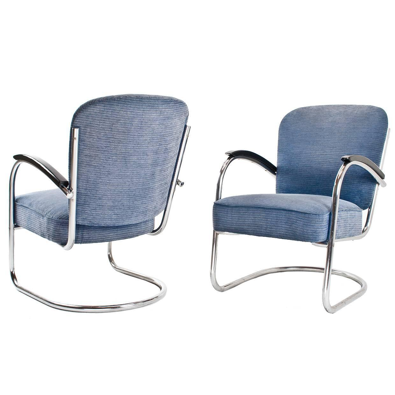 Bauhaus tubular steel lounge chair at 1stdibs - Pair Of 1930s Bauhaus Paul Schuitema Tube Armchairs Industrial Dutch Design At 1stdibs