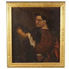18th Century Painting Portrait Titus Flavius, Oil on Canvas