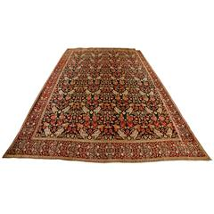 Antique Indian Agra Carpet, 19th Century