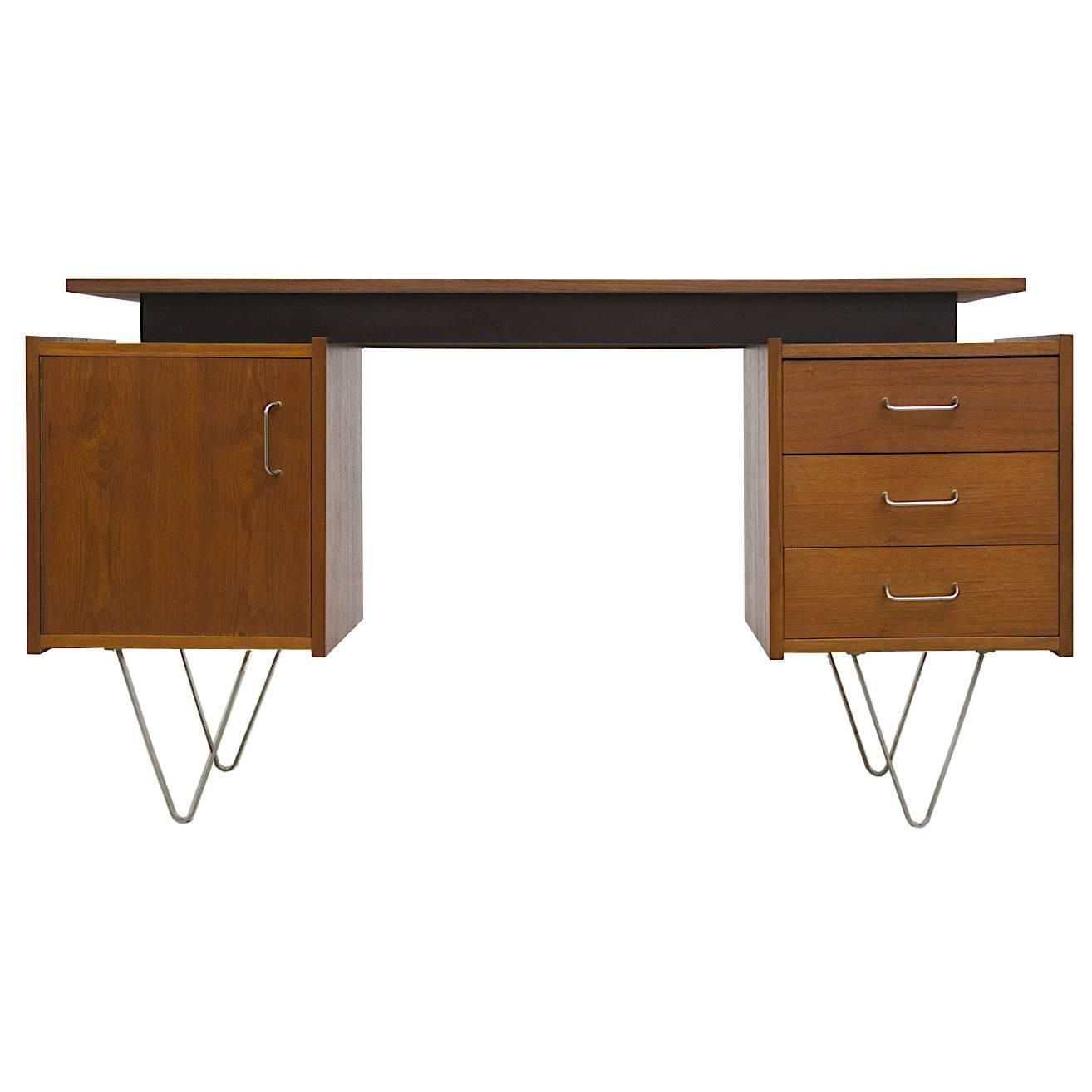 Cees Braakman Desk with Hairpin Legs at 1stdibs