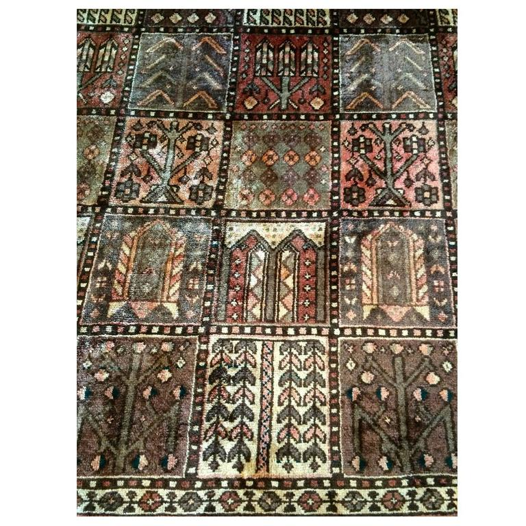 100 Wool Persian Area Rug: Handmade Large Persian Bakhtiyar Oriental Rug Carpet 100