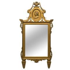Italian Wood Medallion Mirror