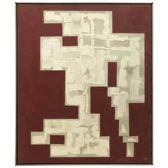 1970s Geometric Abstract Painting