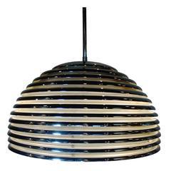 Modernist Art Deco Style Chrome Beehive Pendant Lamp