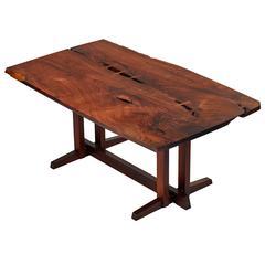 "Solid Rosewood George Nakashima Masterwork ""Single Board"" Table"