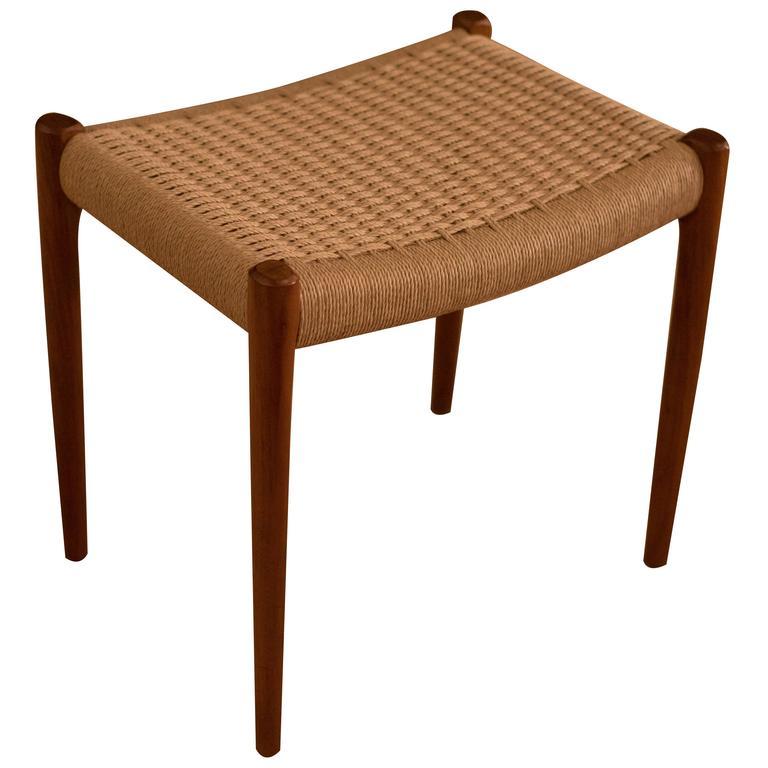 vintage danish teak moller stool at 1stdibs