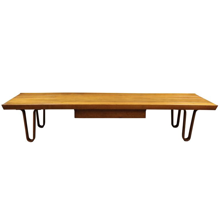 Long John Bench Or Coffee Table By Edward Wormley For Dunbar