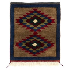 Vintage Mid-Century Hand-knotted Wool Tulu Accent Rug