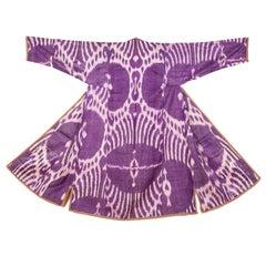 Late 19th-Early 20th Century Uzbek Ikat Chapan
