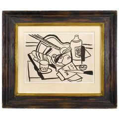 Original Fernand Leger Cubist Drawing, circa 1950, France