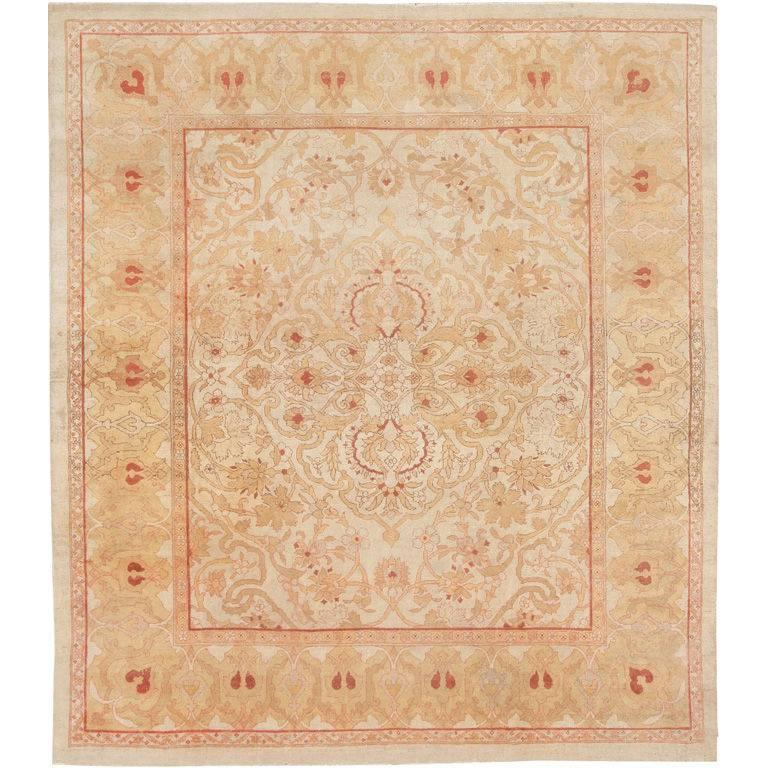 British India Rug: Antique Amritsar Carpet For Sale At 1stdibs