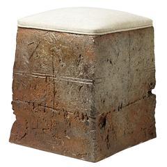 Stoneware Stool by Gustave Tiffoche, circa 1970-1975