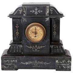 19th Century Victorian French Marble Mantel Clock, circa 1880