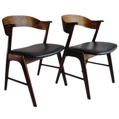 Pair of Palisander Kai Kristiansen Chairs