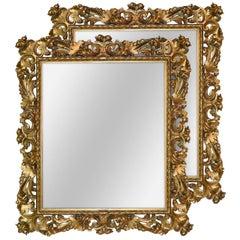Superb 19th Century Pair of Italian Florentine Mirrors
