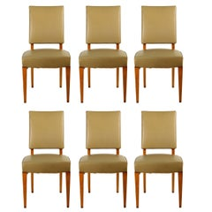 Maxime Old Set of Six Dining Chairs in Ash