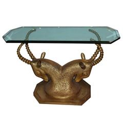 Bronze Ram Dining Table Base