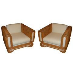 Pair of 1970s Rattan Chairs
