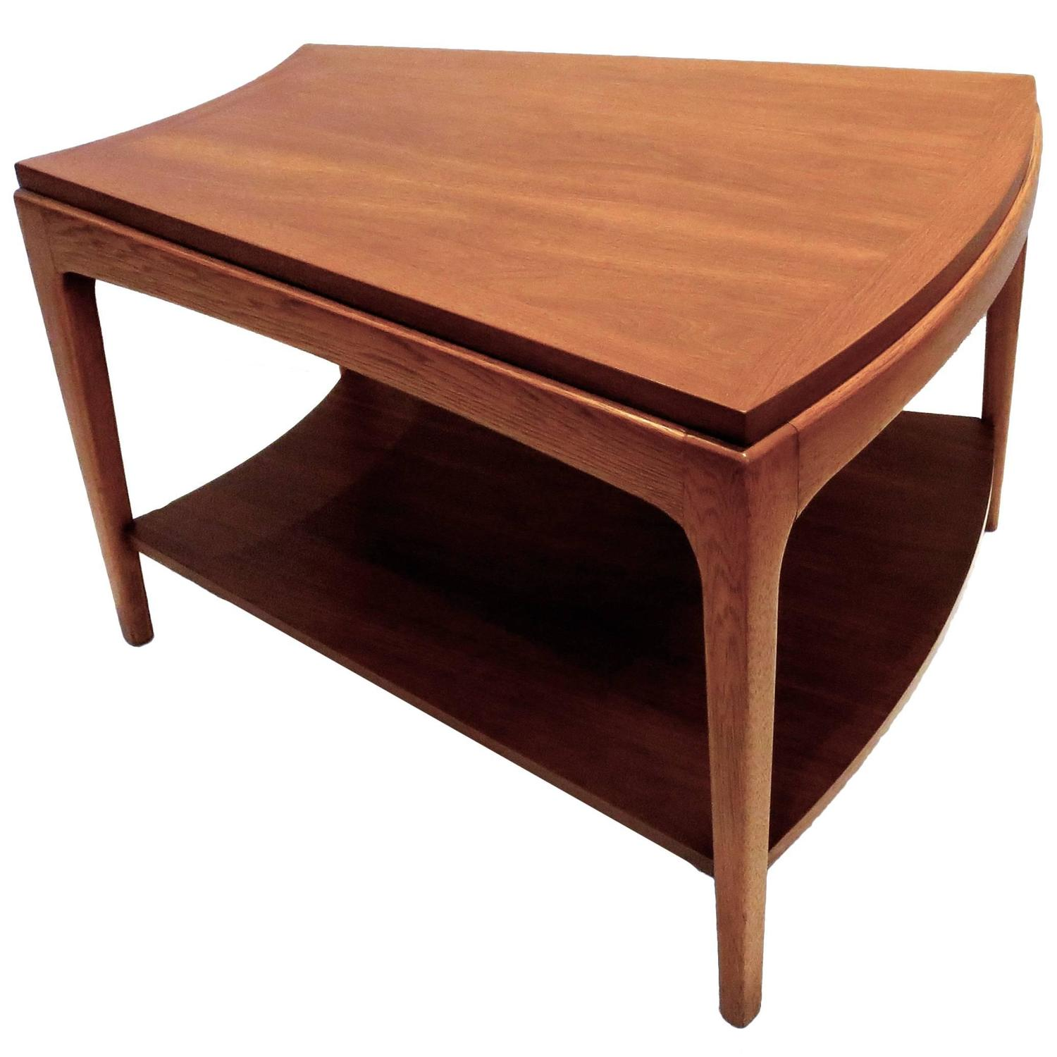 1950s american modern trapezoid shape cocktail end table for Trapezoid table