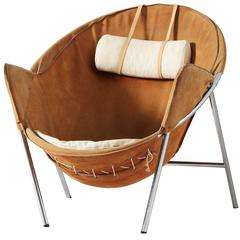 Erik Jorgensen Easy Chair in Cognac Suede