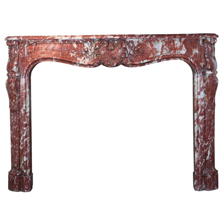 18th Century Original Antique French Marble Fireplace Mantle