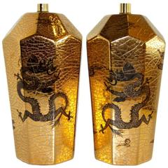Gold Glazed Table Lamps