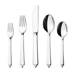 New Pyramid by Georg Jensen Stainless Steel Flatware Set for 12 Service 62 Pcs