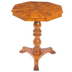 19th Century Louis Philippe Satinwood Octagonal Occasional Table