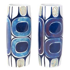 Pair of Ceramic Vases by Inge Lise Koefoed, Royal Copenhagen