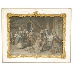 "Etching ""A Lively Concert"" by Arturo Ricci"