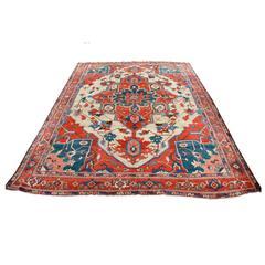 Antique North West Persian Serapi Carpet, 19th Century