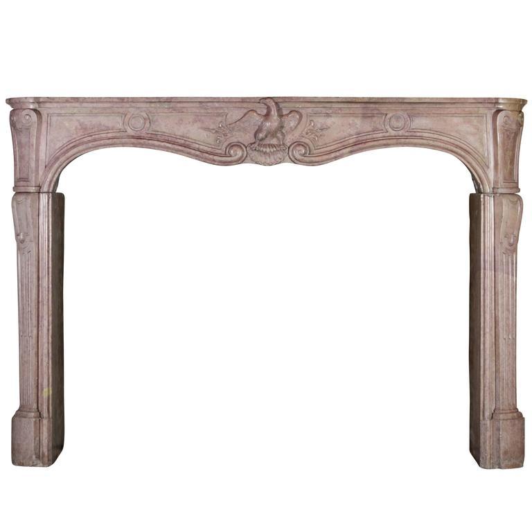 18th Century Rare Original Antique Fireplace Mantle