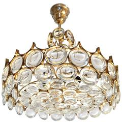 Gilt Brass and Glass Fixture by Palwa
