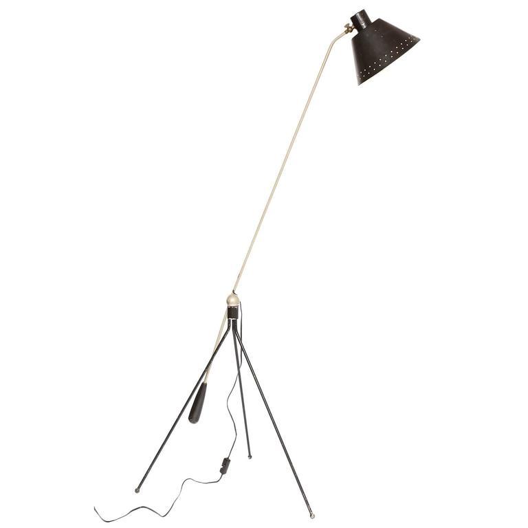 H fillekes for Artiforte Magneto articulated Floor Lamp Denmark 1950's For Sale