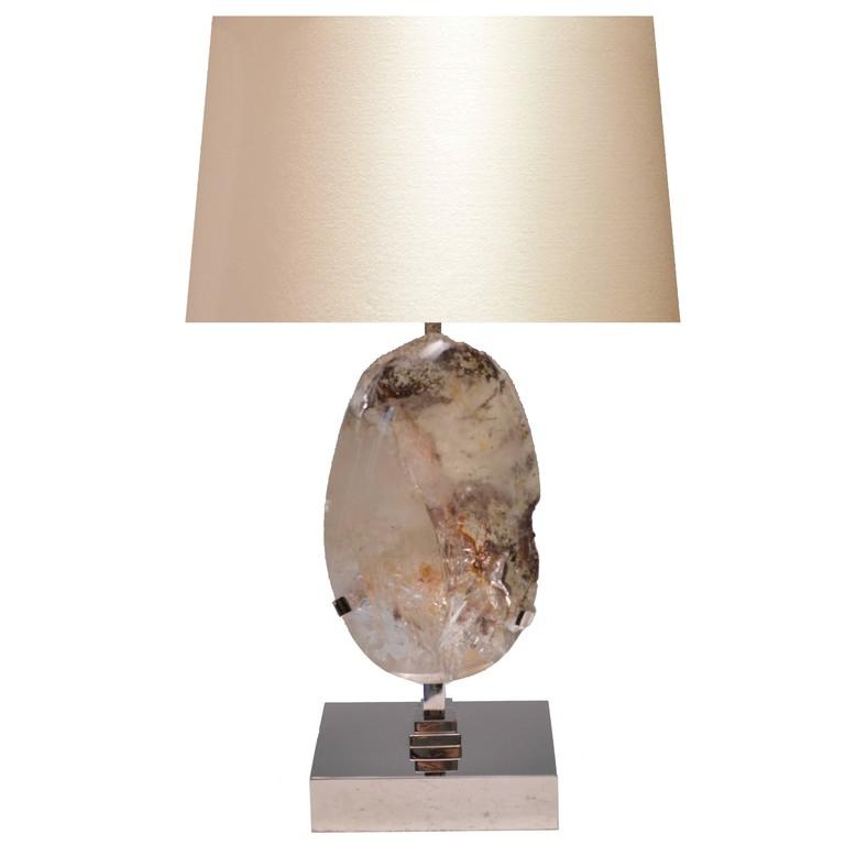 rare natural rock crystal quartz lamp for sale at 1stdibs