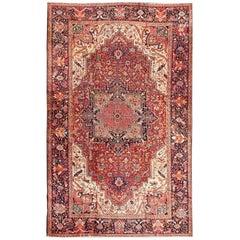 Antique Large Persian Heriz-Serapi Carpet