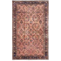 Large Antique Persian Lilihan Rug