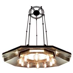 Super Rare I. P. Frink, Ten-Light Chandelier
