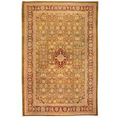 Antique 19th Century Oversize Indian Amritsar Carpet