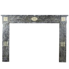 18th Century Original Antique Fireplace Mantel in Marble