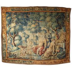 18th Century Flemish Tapestry Depicting Diana