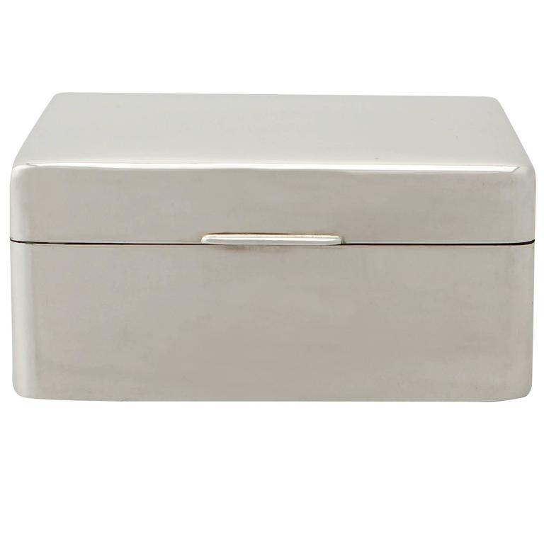Sterling Silver Jewelry Box, Antique George V