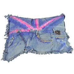 Vintage Denim 'Cushion' 'Art Piece' by Breaad