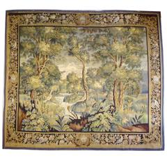 French 19th Century Landscape Tapestry